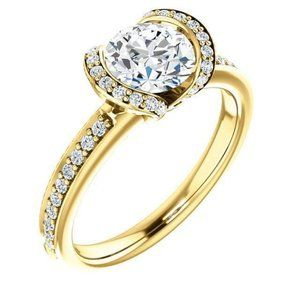 1.86 ct. round diamond solitaire with accents ring